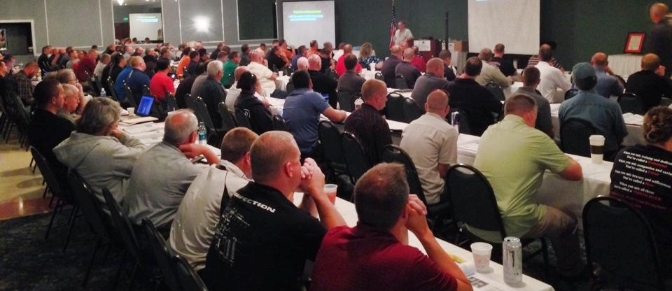Investigators at an Indiana Fire Investigation Conference